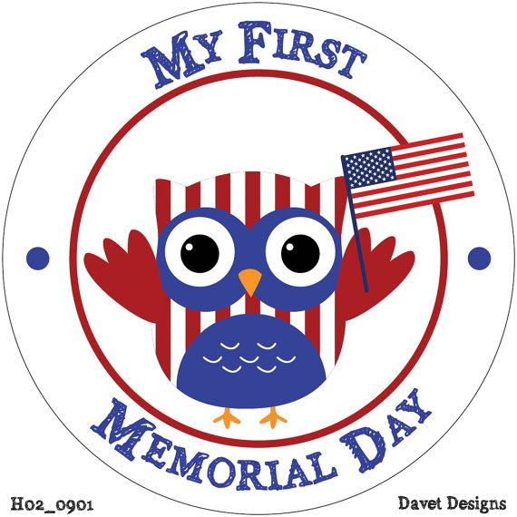 My First Memorial Day  Holiday Baby Waterproof by DavetDesigns2, $2.00