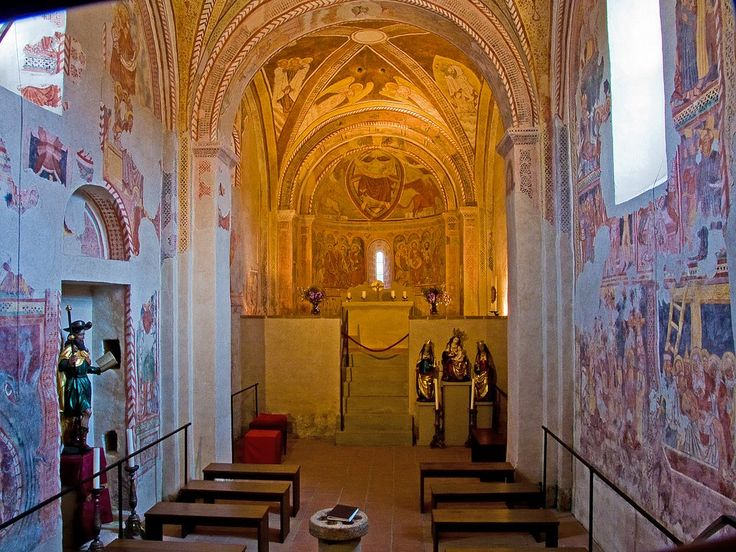 """Fresken in der Kapelle """"St. Jacobus d. Ä."""" in Urschalling/Prien-Chiemsee"""
