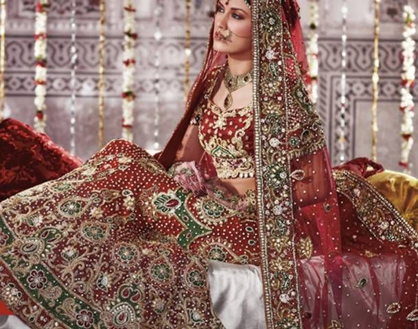 Indian Bridal Wear: Designer Lehengas - Flag for the Future..
