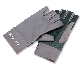 Our fingerless fishing gloves protect your hands from the ravages of the sun. 50 plus UPF Lycra blocks harmful UV rays and the lightweight fabric dries quickly.