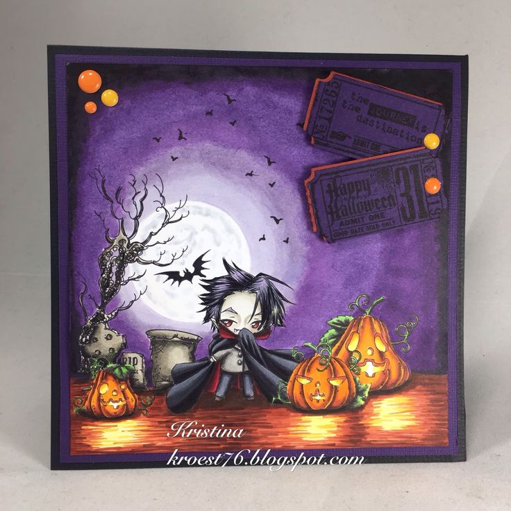 Halloween, Copic Markers, Make it Crafty, Tim Holtz