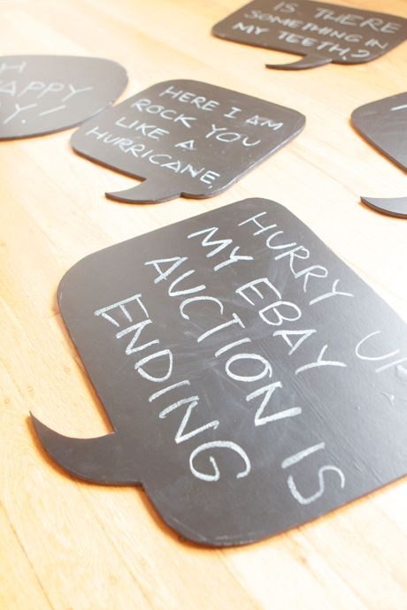 photo props...chalkboard dialogues