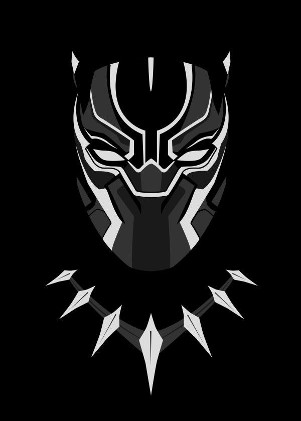 #Minimalist art of Marvel's Black Panther | Marvel | Fan Art | Black Panther | Hero