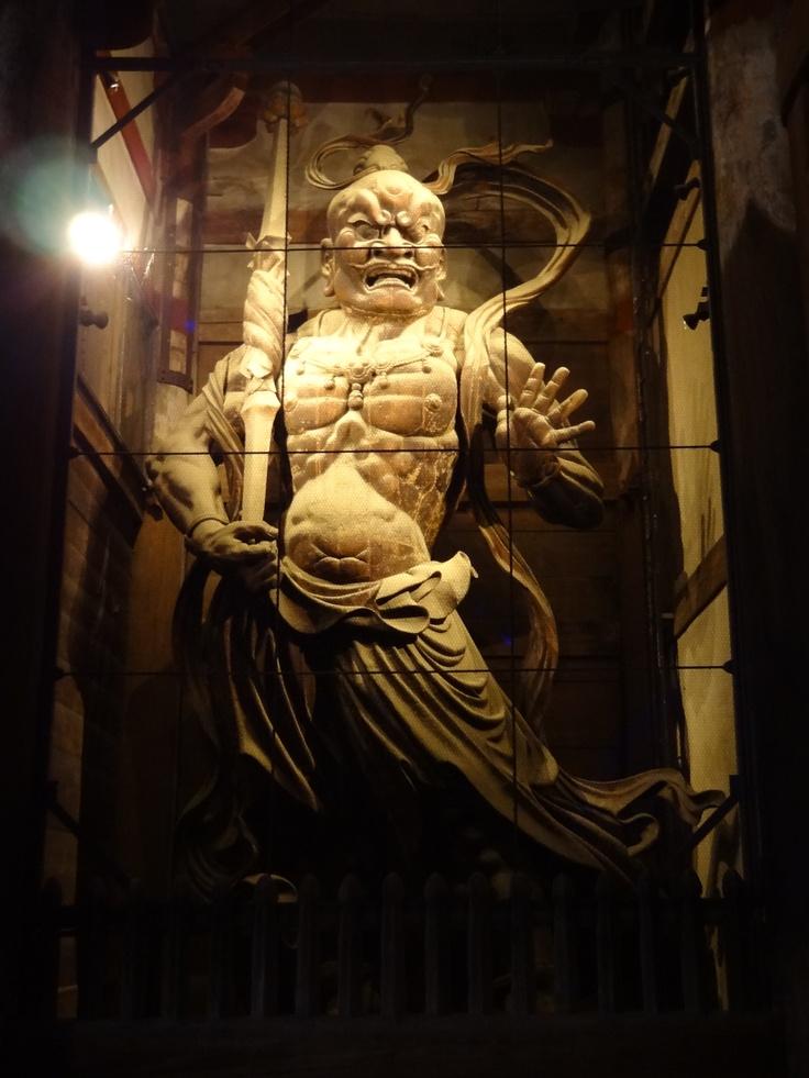 Kongo Rikishi, the guardian god in Todaiji, Nara 金剛力士像(阿形)