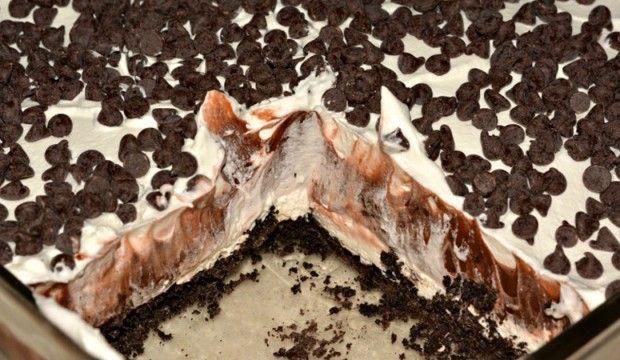 Dekadentní a nepečené čokoládové lasagne