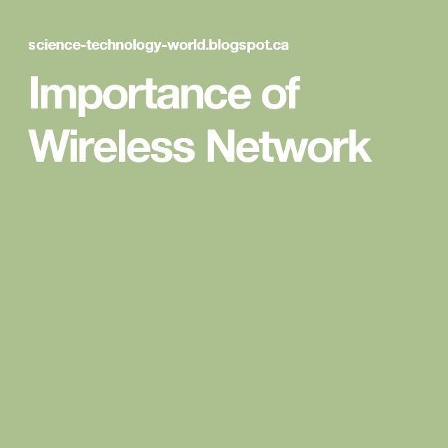 Importance of Wireless Network