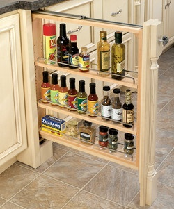 Why does my cabinet maker think this won't work!!! I hate wasted space.  Rev-A-Shelf Kitchen Base Cabinet Fillers with Pull-Out Storage