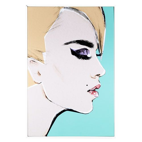Edge Canvas Artwork Aqua Romy