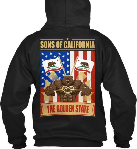 The Golden State Black T-Shirt Back