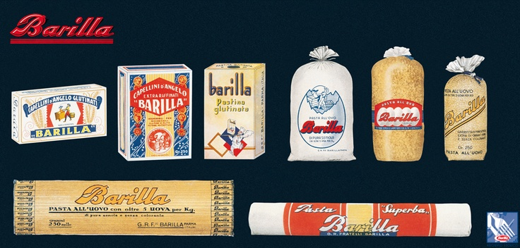 Barilla displays a portion of the 1938 product offering.