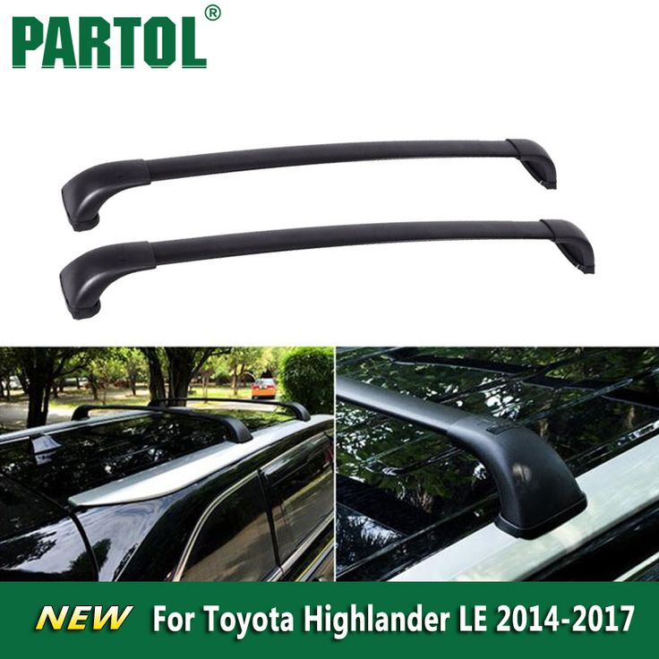 Buy Partol Black Car Roof Rack Cross Bars Roof Luggage Carrier Roof Rail For Toyota Highlander LE 2014 2015 2016 2017 75kg/165lbs #Partol #Black #Roof #Rack #Cross #Bars #Luggage #Carrier #Rail #Toyota #Highlander #2014 #2015 #2016 #2017 #75kg/165lbs