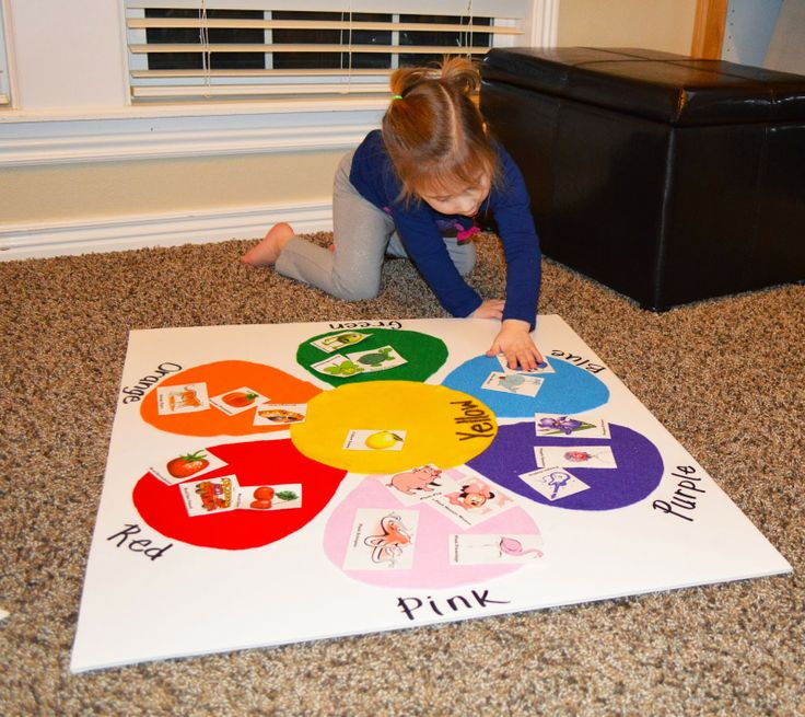 Toddler Color Matching Felt Board with Picture Identification - Great For Teaching And Learning Colors!