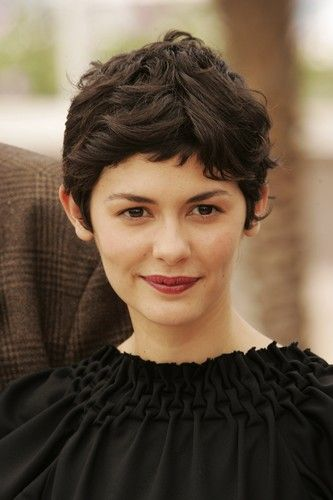 Audrey Tautou, curly pixie cut <3                                                                                                                                                                                 More