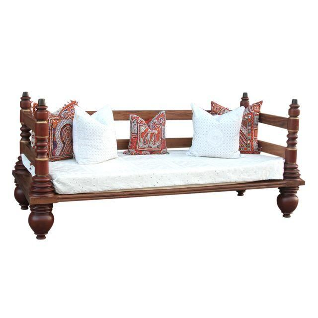 Anglo Indian Kerela Teak Day Bed
