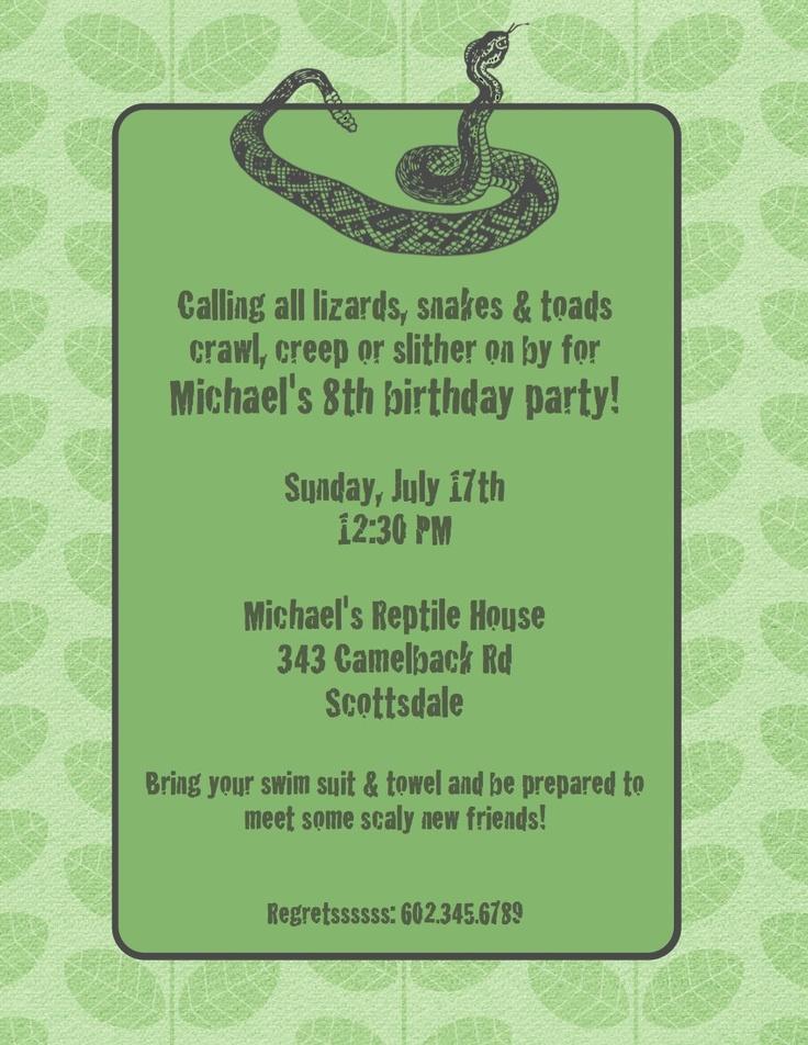 56 best Jackson\'s 7th birthday - snakes images on Pinterest | Snakes ...