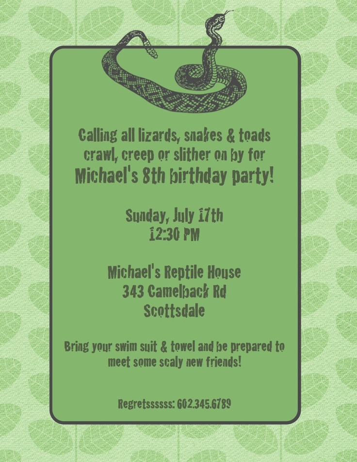 snake reptile themed 7th birthday - reptile snake birthday cake ...