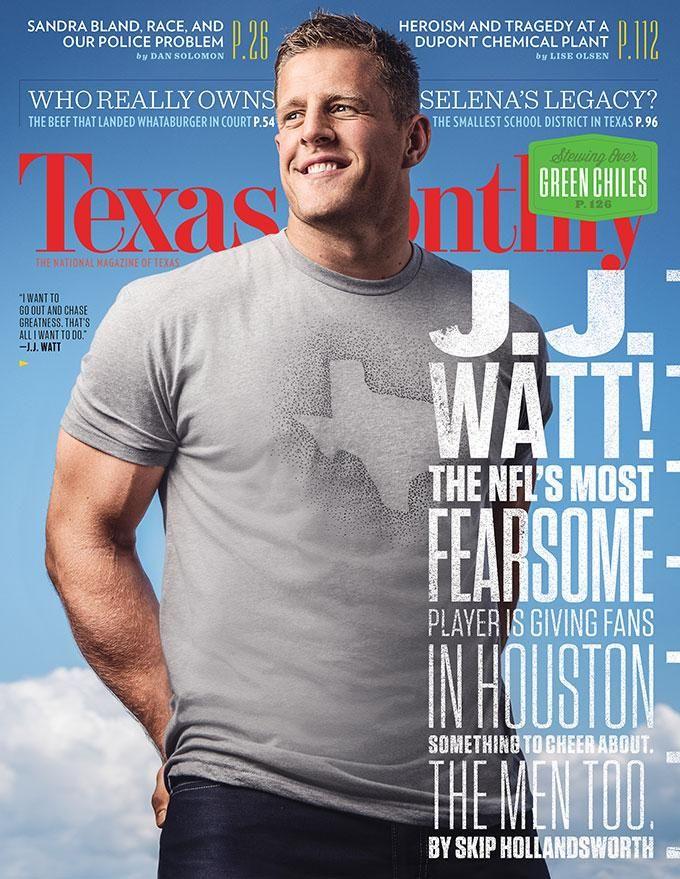 .@JJWatt, looking pretty good on our September cover. http://txmnth.ly/1habD4K