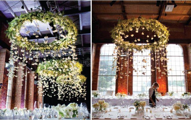 Suspendidos centros de mesa florales - + Arañas Belle The Magazine. El blog de la boda para la novia sofisticada