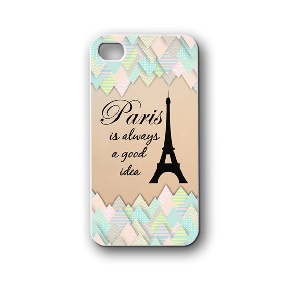 Paris Quotes - iPhone 4,4S,5,5S,5C, Case - Samsung Galaxy S3,S4,NOTE,Mini, Cover, Accessories,Gift
