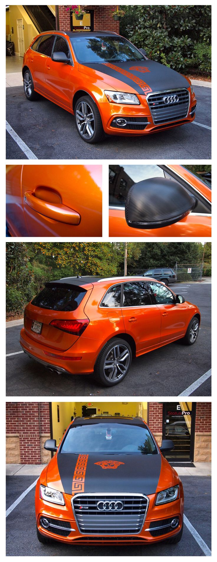 Here's another great color change wrap by Status Pro.  What a cool color combo 3M 1080 Liquid Copper with 3M 1080 Carbon Fiber.  http://www.statusproatl.com/