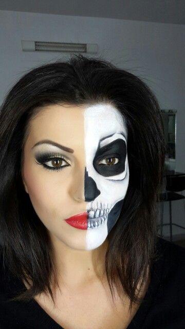 Halph face skull