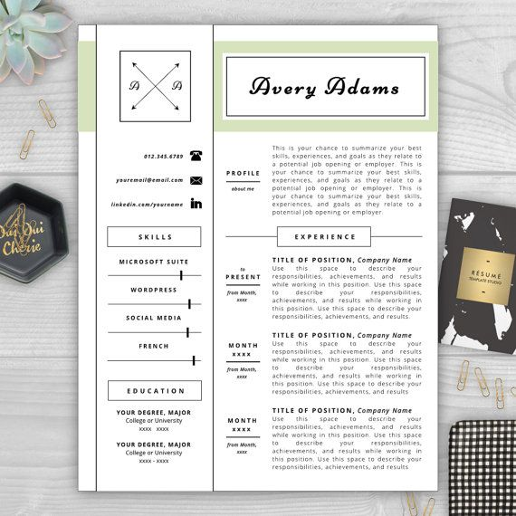 9 best Monogram Resume Templates images on Pinterest Resume - resume templates for indesign