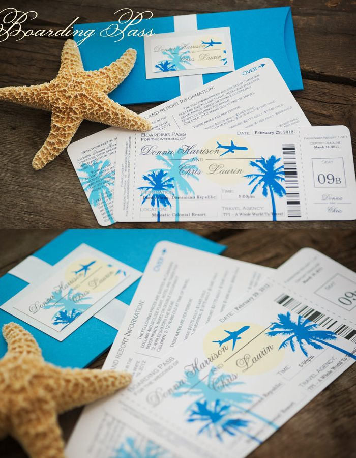 Destination Wedding Invitation Boarding P By Enchanted Moments Invitations Cards