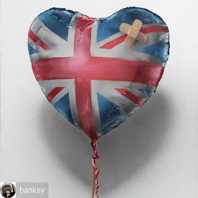 @Regrann from @banksy - Untied Kingdom. - #untiedkingdom #brexit #banksy #streetart #graffiti #britain #eu #europe #uk #theresamay #jeremycorbyn #london #urbanart #art #artist