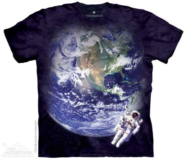 The Mountain Space T-shirt | Astro Earth, New 2014 Adult T-shirts from The Mountain, 108354