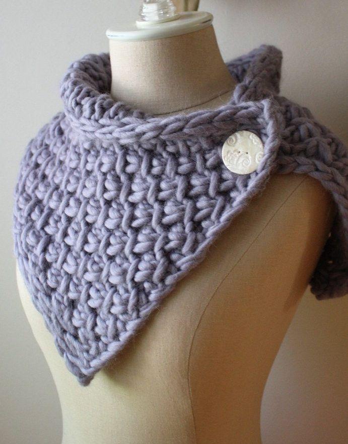 Perfecto Bulky Wool Knitting Patterns Festooning - Manta de Tejer ...