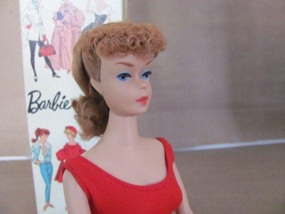 #barbie Vintage Barbie Doll 1960's Barbie Ponytail by ThirstyOwlVintage