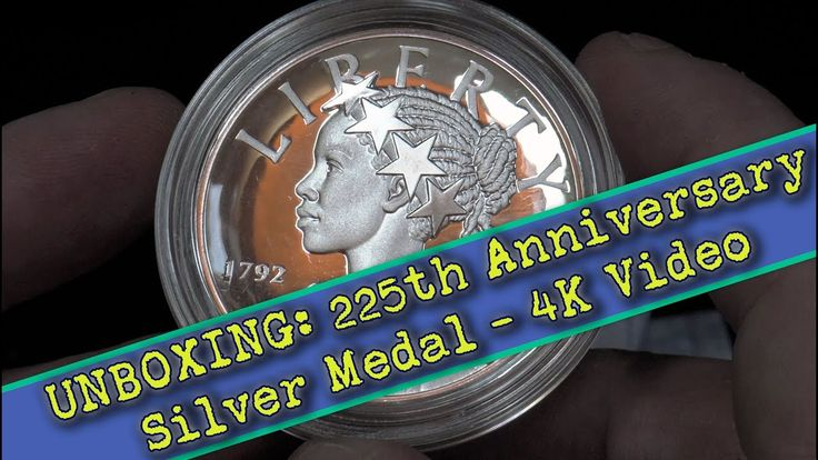 CoinWeek: United States Mint 225th Anniversary Silver Medal Unboxing - 4K Video