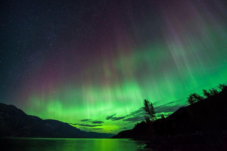 Aurora Over Kootenay Lake, British Columbia, Canada #Kimberley
