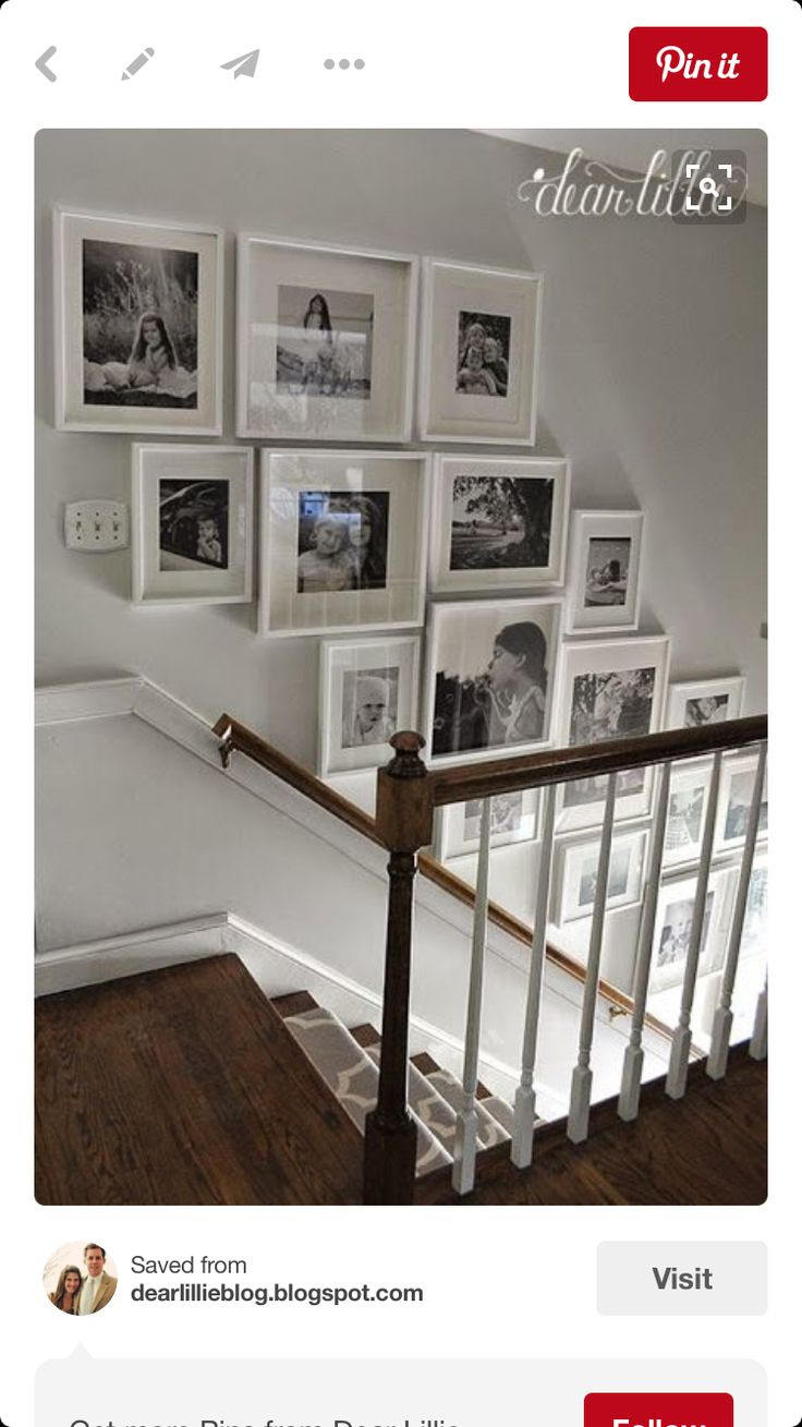 gallery on a staircase wall