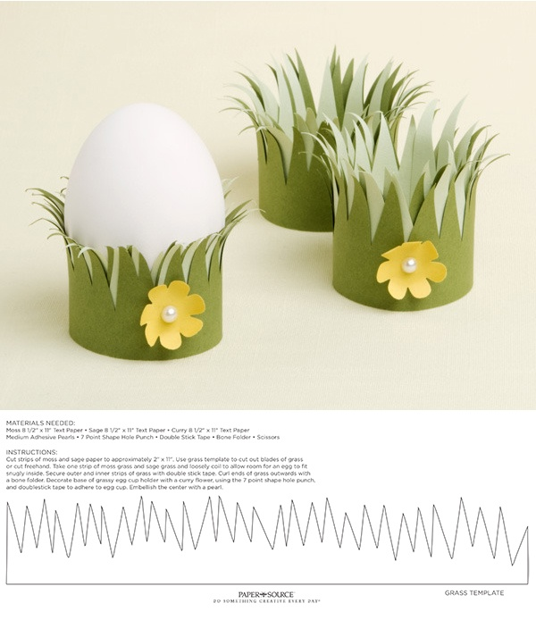 DIY Easter egg cups - with printable template