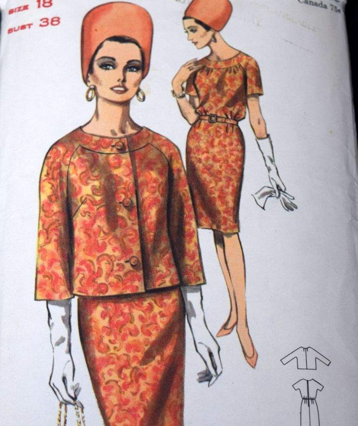 Vintage 1960s Dress and Jacket Sewing Pattern, Butterick 3550, Size 18 Bust 38, Cut but Complete by PishPoshNotions on Etsy
