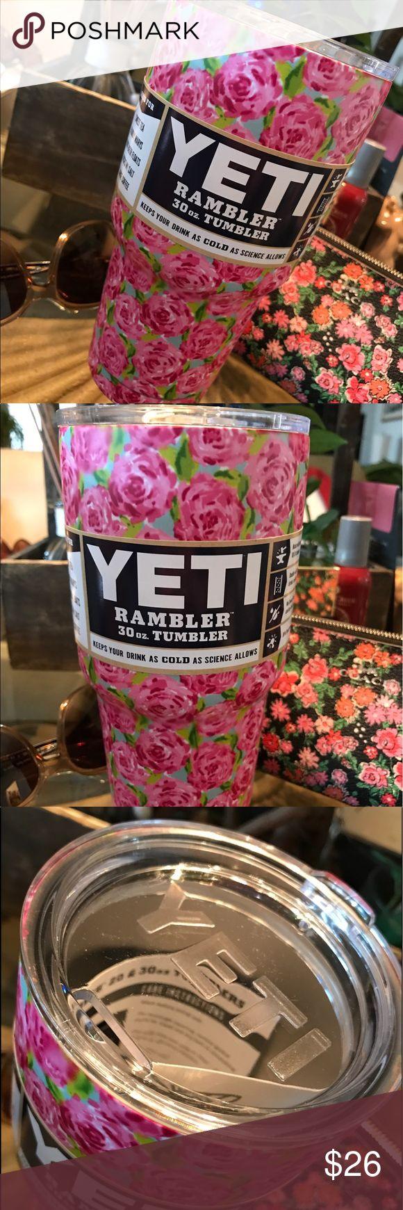 Lilly Pulitzer Rose Yeti Rambler Tumbler 30 Ounce Lilly Pulitzer Rose Yeti Rambler Tumbler 30 Ounce New Unused Authentic Yeti Rambler and Lid. Yeti Accessories