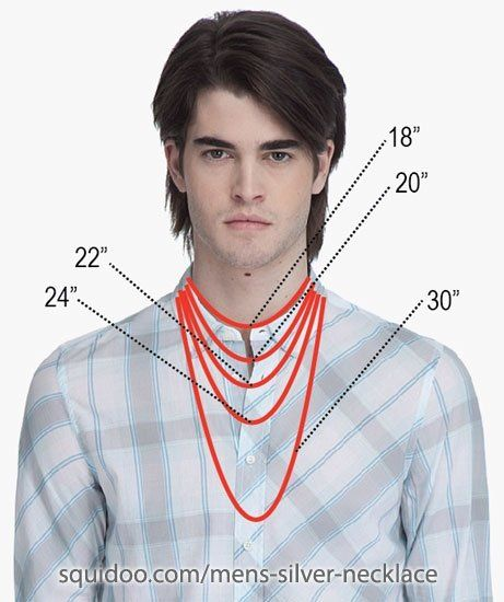 Mens necklace lengths #Beading #Jewelry #Tutorials