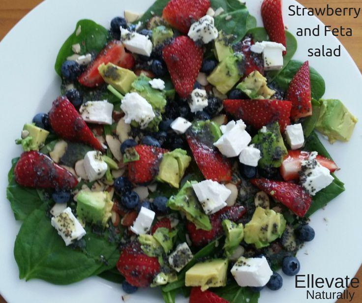 Strawberry and Feta Salad Strawberry and Feta Salad   https://www.facebook.com/ellevatenaturally/photos/a.512672888762584.128986.512666322096574/974009552628913/?type=1&theater