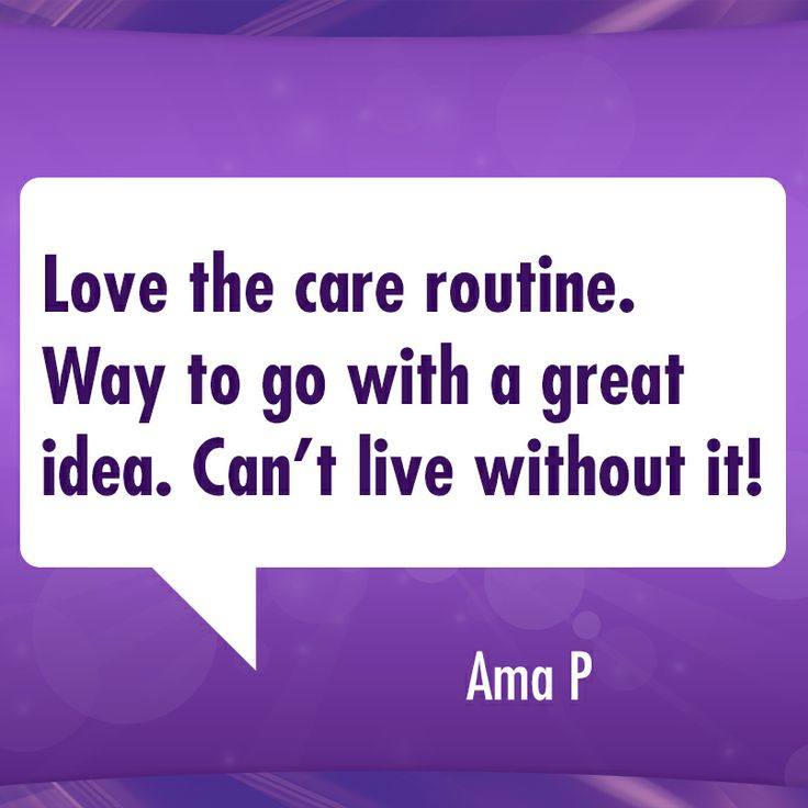 Love the care routine. Way to go with a great idea. Can't live without it!: Cottonel Care, Cottonell Care, Care Routines