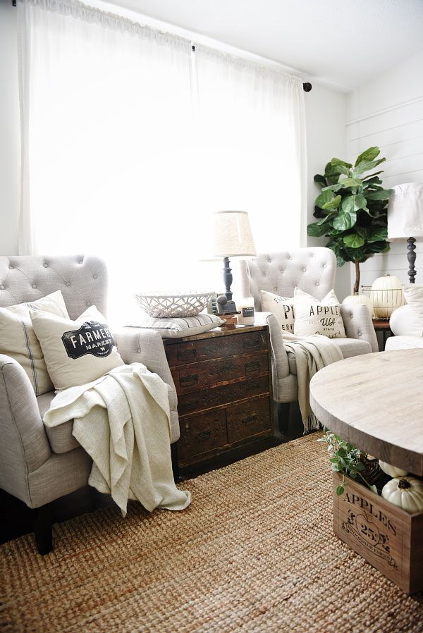 Great Cozy Neutral Living Room   Handmade Neutral Pillows