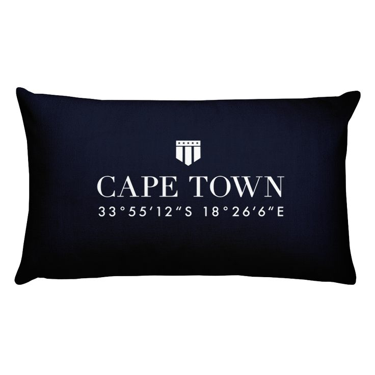 Cape Town, Africa Pillow with Coordinates