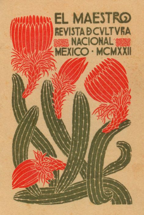 This is either a magazine cover or and advert for a cultural event. I don't do Spanish sadly. I love the two colours - is it screen printed