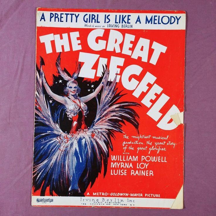xa Vtg Sheet Music The Great Ziegfeld A Pretty Girl Like A Melody Irving Berlin