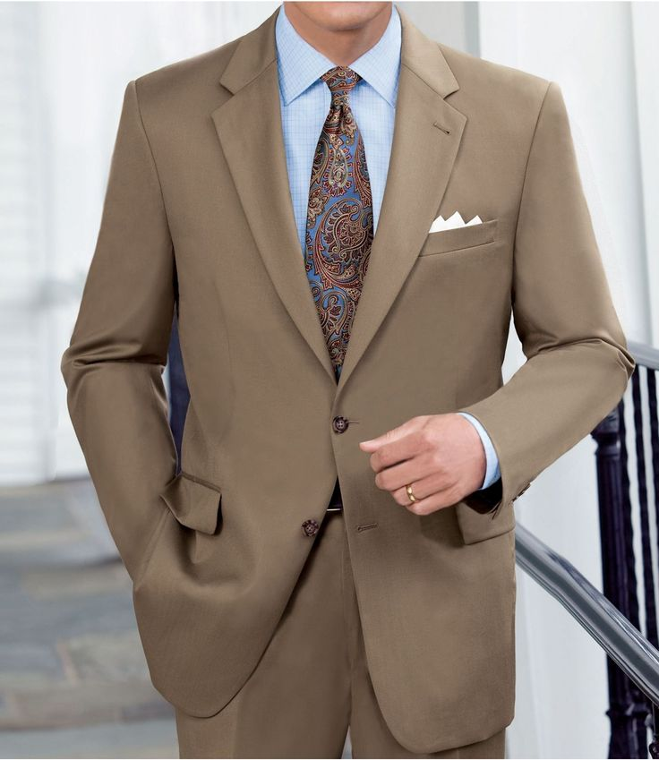 This is the Groomsmen suit... will wear with navy/blue various patterned ties: Jos. A Bank - Traveler Suit Separate 2-Button Jacket