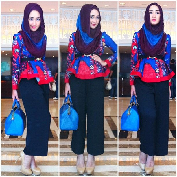 Wearing umbrella coat batik by Dian Pelangi :) - @dianpelangi- #webstagram