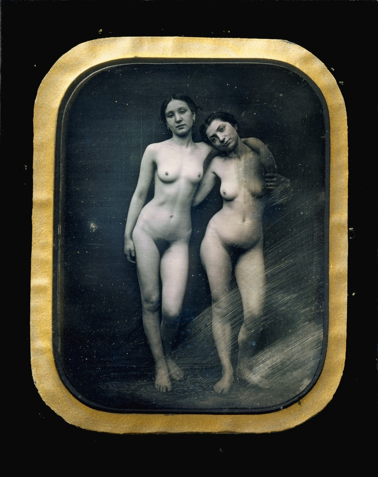 Félix-Jacques-Antoine Moulin. Two Standing Female Nudes, ca 1875.: Photos, Félix Jacques Antoine Moulin, Female Nudes, Vintage Nudes, Moulin French, 1850, 1800 After 1875, Photography