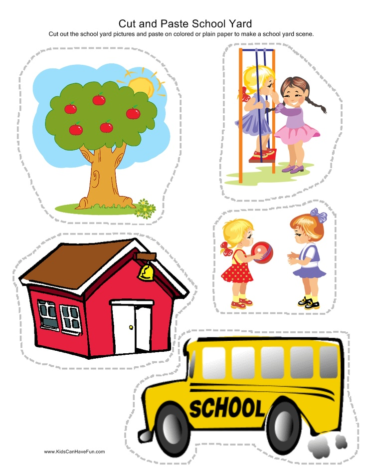 Cut and Paste School Yard