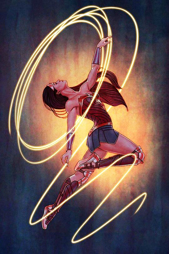 "thorodinson: ""Wonder Woman #23 variant cover by Jenny Frison """