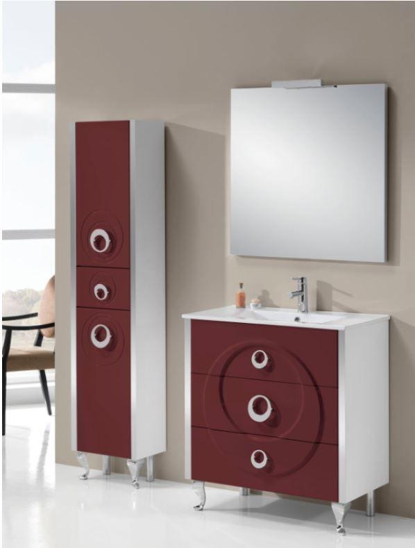 ensemble de meubles pour salle de bain aquiles de la marque aquglass avec meuble sous vasque sur 4 pieds et 3 tiroirs vasque miroir avec clairage en led - Meuble Pour Lavabo Avec Colonne